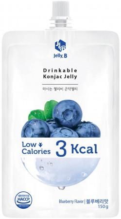 全新生活  赤藻醇糖 Jelly.B 冷凍 冷藏 都好吃 低卡蒟蒻果凍(藍莓味) 150g/包