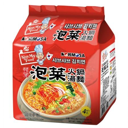 韓國  韓寶 KORMOSA 泡菜火鍋湯麵 4入/袋