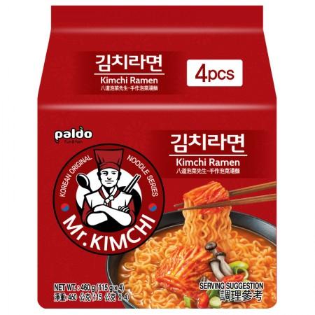 韓國 八道Paldo 泡菜先生手作泡菜湯麵(4包入 美安獨家