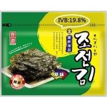 月銷售5萬包  【無添加 】金朝鮮海苔精選-原味(全素) 36克/20組包 (IBV:0.55)【85元/起】