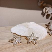 五角星珍珠耳環