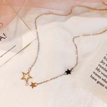 新品 韓國簡約星星吊飾鎖骨鍊