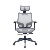 恰恰人體工學網椅附頭枕 - 冰礦銀